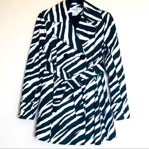 Helene Berman London Zebra Print Trench Coat